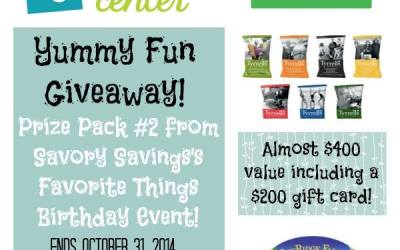 LAST CHANCE! Savory Savings Golden Birthday #Giveaway Extravaganza! Enter to #win Present Pack #2 Yummy Fun! (Ends Oct 31)