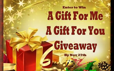 {Giveaway} A Gift For Me – A Gift For You ♥ Congrats, Brianna! Ends November 27th. Open to US residents ages 18+ only. $550 total value.