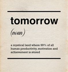 {Witty Wednesday} Procrastination