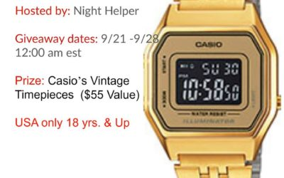 Casio Vintage Timepiece Giveaway ⚬ Ends Sep 28