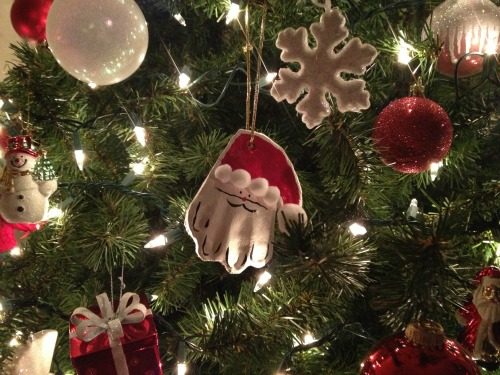 {Pinteresting} Hand-Print Ornaments
