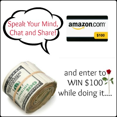 {Giveaway} Comment Starter ~ $100 PayPal or Amazon (5/26-6/9)