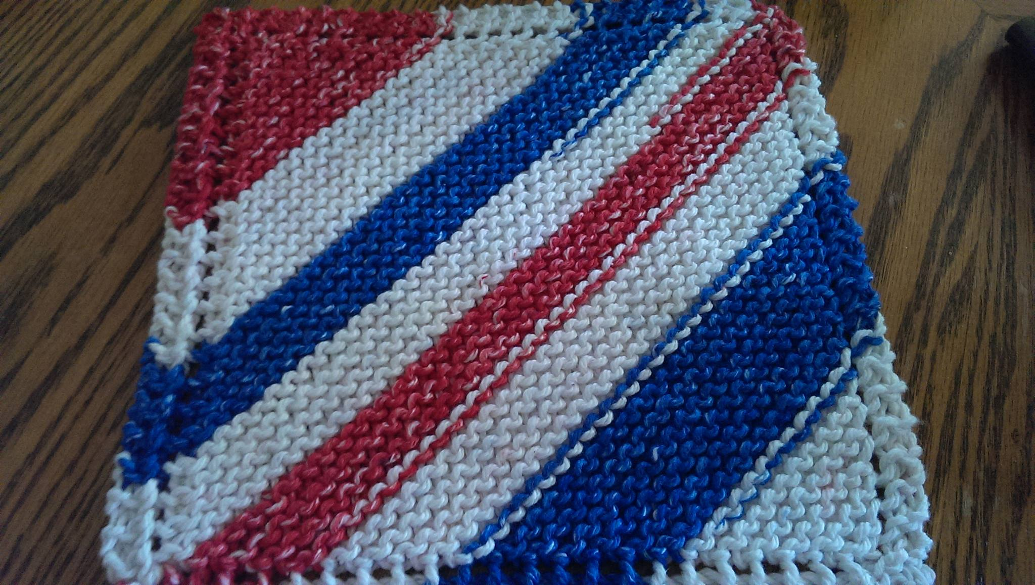 {Finished Object} Patriotic Discloth