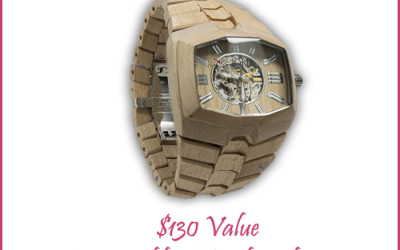 {Free Blogger Opp} Wooden Watch ~ $130 Value (Begins at 20 participants)