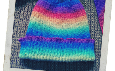 {Finished Object} Rainbow Rocky Hat