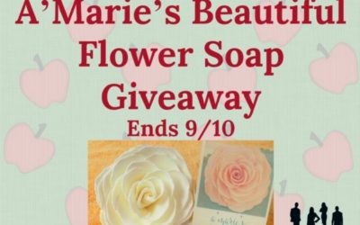A'Marie's Beautiful Flower Soap Giveaway (Congrats, K!)