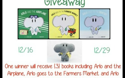 Enter our Arlo the Elephant #giveaway for a chance to #win 3 Arlo books & plush! (Ends Dec 29)