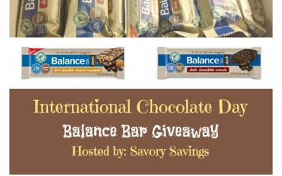 Did you see this? Enter to #win with the  International Chocolate Day Balance Bar #giveaway! (Ends Sep. 27)