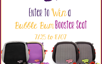 It's a BubbleBum #giveaway! Enter to #win Booster Seat in the color of your choice! (Jul 25 to Aug 7/ US)