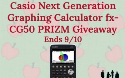 Casio Next Generation fx-CG50 PRIZM Graphing Calculator Giveaway (Congrats, D. M!)
