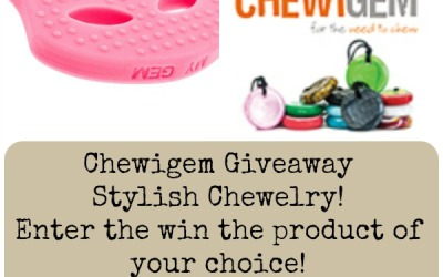 ENDS TOMORROW! Enter to #win stylish sensory #chewelry of your choice in our Chewigem #giveaway? (Ends Sep. 19)
