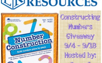 LAST CHANCE! You could #win Constructing Numbers in this #educational #giveaway from Learning Resources! (Ends Sep. 18)