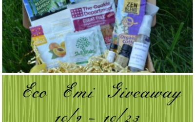 ENDS TOMORROW! Eco Emi #giveaway! Enter to #win an eco-friendly sampler box! (Ends Oct 23)