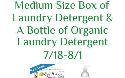 This Eco Nuts #giveaway ends soon! Enter to #win an #organic laundry detergent prize pack! Ends August 1st. Open to US residents ages 18+ only.