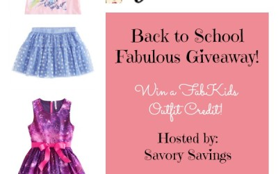 Don't miss this chance for a great #BackToSchool outfit! Enter to #win our #giveaway from FabKids! (Aug 10 to 24/ US)