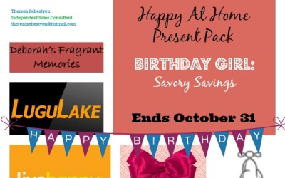LAST CHANCE! Savory Savings Golden Birthday #Giveaway Extravaganza! Enter to #win Present Pack #4: Happy At Home! (Ends Oct 31)