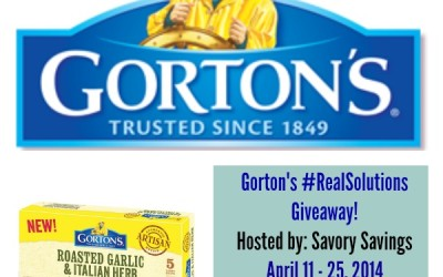ENDING SOON! {Giveaway} Gorton's #RealSolutions ~ Free Product & a Cutting Board (Apr 11 to 25/ US Only)