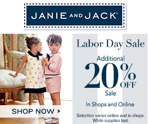 The Janie and Jack Labor Day Sale starts today! Take an extra 20% off sale items!