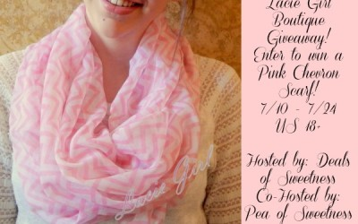 Don't miss this #Giveaway! Enter to #win a Pink Chevron Infinity Scarf! (July 10 to 24/ US)