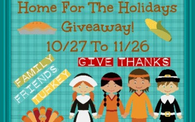 {Giveaway} Home for the Holidays ♥ Congrats Rebecca, Dorothy, & Erica! Ends November 26th. Open to US residents ages 18+ only. $1269 total value.