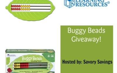 ENDING SOON! Don't miss this #giveaway for a chance to #win a set of Buggy Beads from Learning Resources! (Ends Sep. 20)