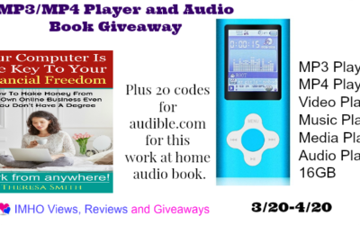 MP3/MP4 Player & Audio Book Giveaway with 20 Winners (Congrats, Winners!)