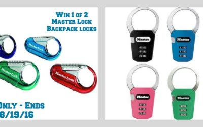 Master Lock Backpack Locks Giveaway ⚬ Congrats Mycraftingworld & Susan!