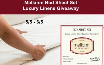 Mellanni Brushed Microfiber King Bed Sheets Giveaway (Winner to be Announced)