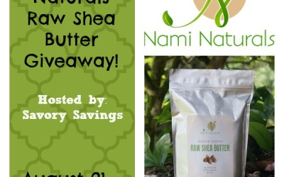 Nami Naturals Raw Shea Butter giveaway! Enter to #win a bag of raw shea butter! (Aug 21 to Sep 4/ US)