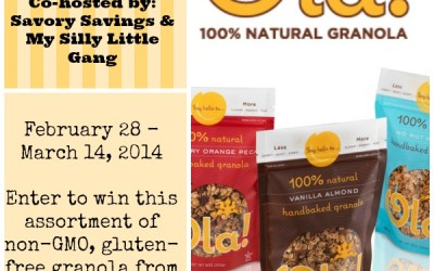 {Giveaway} Ola Granola ~ Assortment of Products (Feb 28 to Mar 14/ US Only)