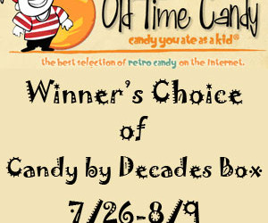 It's an Old Time Candy #giveaway! Enter to #win a Candy by Decades 4 lb. box of candy! (Jul 26 to Aug 6/ US)
