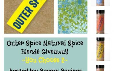 Outer Spice Natural Spice Blends #Giveaway! Enter to #win two natural spice blends! (Aug 20 to Sep 3/ US)