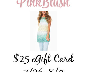 It's a PinkBlush #giveaway! Enter to #win a $25 eGift Card! (July 26 to Aug 9/ US)