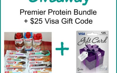 Premier Protein Prize Pack & $25 Visa Gift Code Giveaway ⚬ Ends Oct 5