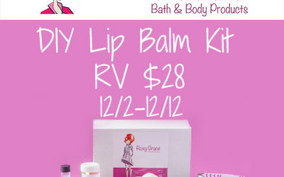 {Giveaway} Roxy Grace DIY Lip Balm Kit ♥ Congrats, Sharon! Ends December 12th. Open to US residents ages 18+ only. $28.00 value.