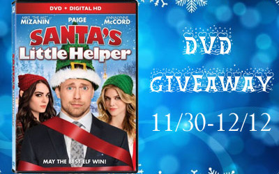{Giveaway} Santa's Little Helper DVD ♥ ENDS SOON! Ends December 12th. Open to US residents ages 18+ only.