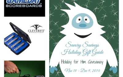 Savory Savings Holiday Gift Guide #Giveaway!  Enter to #win the Holiday Day for Him Gift Pack! (Ends Dec 9)