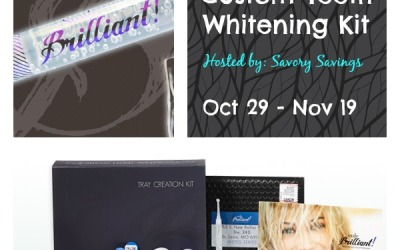 Smile Brilliant #giveaway! Enter to #win a custom teeth whitening kit from Smile Brilliant! (Ends Nov 19)