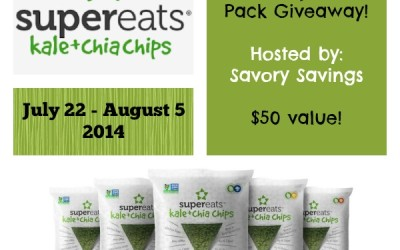 Enter to #win! It's a SuperEats Kale & Chia Chips #giveaway! (Jul 22 to Aug 5/ US)