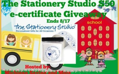 The Stationery Studio $50 E-Certificate Giveaway • Ends Aug 17