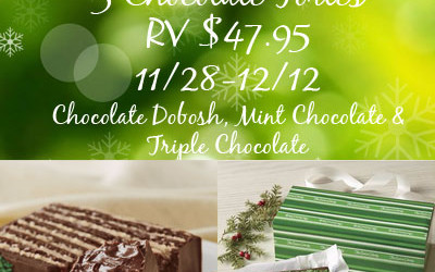{Giveaway} 3 Swiss Colony Chocolate Tortes ♥ Congrats, Teresa! Ends December 12th. Open to US residents ages 18+ only. $47.95 value.