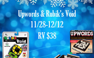 {Giveaway} Winning Moves' Classic Upwords & Rubik's Void Games ♥ Congrats, Heather! Ends December 12th. Open to US residents ages 18+ only. $38 value.