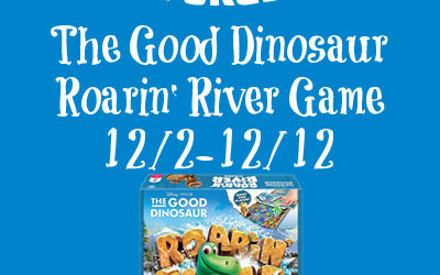 {Giveaway} Wonder Forge Good Dinosaur Roarin' River Game ♥ Congrats, Lisa! Ends December 12th. Open to US residents ages 18+ only. $14.99 value.