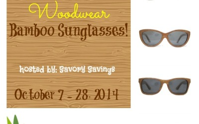 Don't miss this Woodwear Bamboo Sunglasses #Giveaway! Enter to #win a pair of bamboo sunglasses from Woodwear! (Ends Oct. 28)