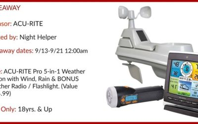 Acu-Rite Pro 5-in-1 Weather Station Giveaway ⚬ Congrats Joe!