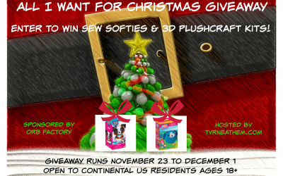 {Giveaway} All I Want for Christmas is Sew Softies & 3D PlushCraft Kits ♥ Did you win? Ends December 1st. Open to Continental US residents ages 18+ only. $18.98 value.