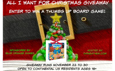 {Giveaway} All I Want for Christmas is a Thumbs Up! Board Game ♥ Did you win? Ends November 30th. Open to Continental US residents ages 18+ only. $14.99 value.