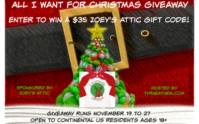 {Giveaway} All I Want for Christmas is a $35 Zoey's Attic Gift Code ♥ Congrats, Natasha! Ends November 27th. Open to Continental US residents ages 18+ only. $35 value.