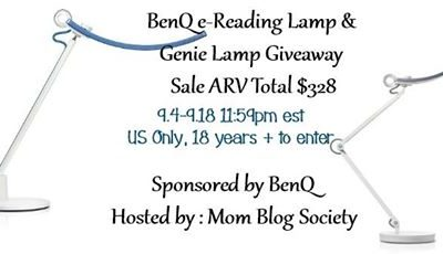 BenQ e-Reading Lamp and Genie Lamp Giveaway (Congrats, Darby!)