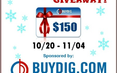 BuyDig.com #giveaway! Enter to #win a $150 gift card to purchase prize(s) on BuyDig! (Ends Nov 4)